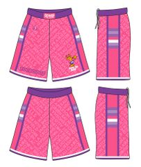 (PINK AND PURPLE) LADIES YOUNG DOE SHORTS