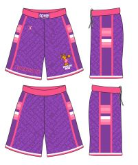 (PURPLE AND PINK) LADIES YOUNG DOE SHORTS