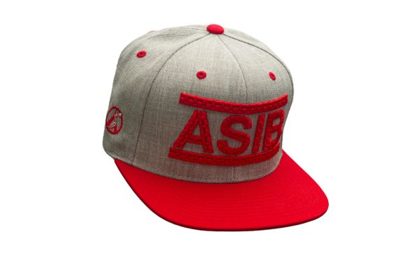 ASIB HEATHER GRAY/RED