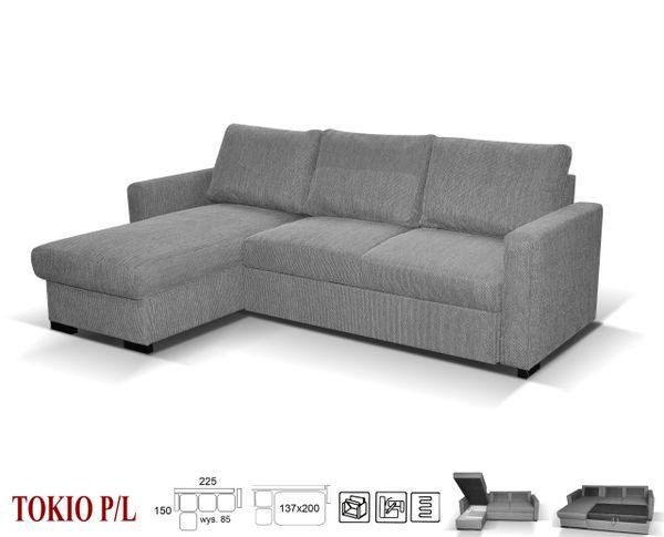 NEW TOKYO CORNER SOFA BED GREY , BLACK , BEIGE | Good Value Sofas in ...