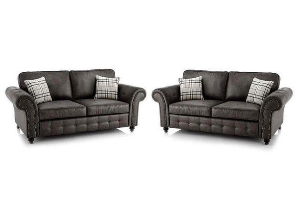 Surprising New Large Oakland Sofa 3 2 Tan Faux Leather Black Or Brown Sale Home Interior And Landscaping Mentranervesignezvosmurscom