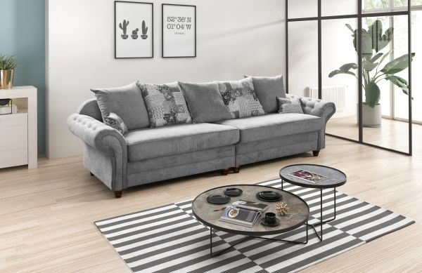 Brilliant Large Corner Sofa Brand New Nicole 4 Seater Silver Or Grey Fabric Settee Download Free Architecture Designs Embacsunscenecom