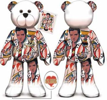 ELVIS PRESLEY BEAR #05 Collectible Elvis Presley Plush Bear - KING OF HEARTS