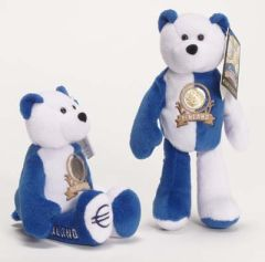 EURO COIN BEAR - FINLAND Collectible Plush 20 Cent Euro Coin Bear