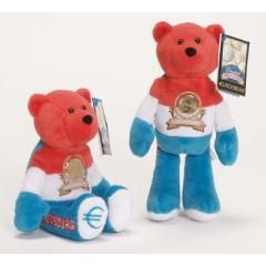 EURO COIN BEAR - LUXEMBOURG Collectible Plush 20 Cent Euro Coin Bear
