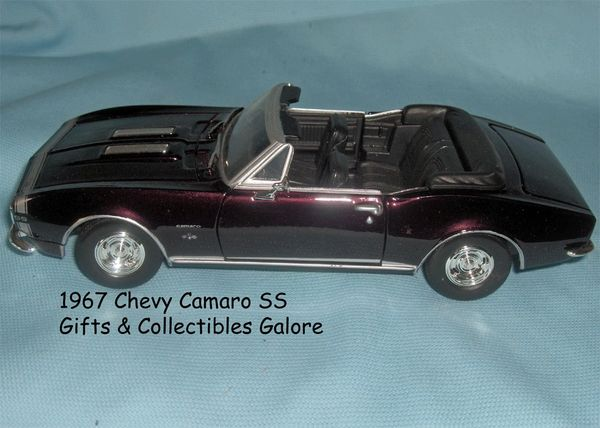 1967 Chevy Camaro SS Convertible Diecast Collectible Model Car 1:24 Scale Motormax