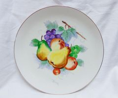 PLATE - Elegant Vintage Collectible Hand-painted Plate Signed - J. Nagasaki