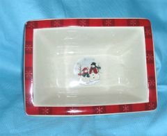 RELISH DISH - Hors D'Oeuvre Dish Holiday Snowmen Royal Season Snowmen RN-3