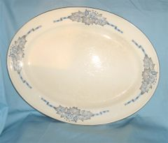 "SERVING TURKEY PLATTER Hostess 15 1/2"" Long Edwin Knowles"