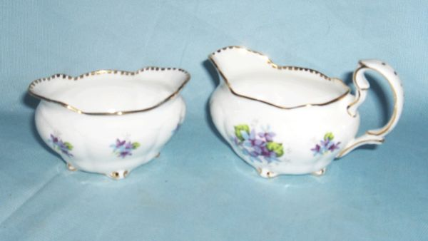 SUGAR AND CREAMER SET - Mini Bone China Sugar and Creamer Set Royal Stafford