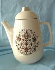 TEAPOT - Coffee Pot and Lid Floral Pattern HOLIDAY DESIGNS USA