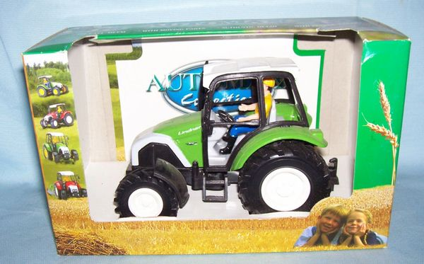 "FARM TOY: Die-cast TOY FARM TRACTOR 5 1/2"" x 3 3/4"" tall Automax by Joycity"