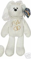 "LIMITED TREASURE BEAR - Plush Collectible 9"" Wedding Bride Teddybear - I DO"