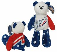 "LIMITED TREASURE BEAR - Plush Collectible 9"" Patriotic Teddybear - LIBERTY"