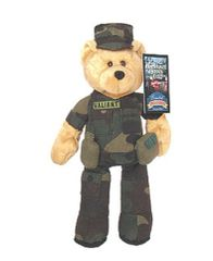 "LIMITED TREASURE BEAR: Collectible Military Plush Stuffed U.S. Army Bear - VALIANT 9"" Teddy Bear"