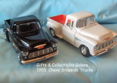 1955 Chevy Stepside Diecast Collectible Model Pick-up Truck Motormax 1:24 Scale