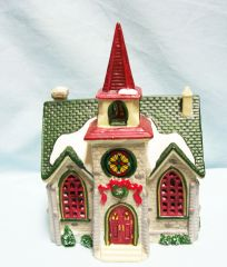 LEMAX CHRISTMAS VILLAGE: 1999 Christmas Village Houses - Caddington Village Country Church