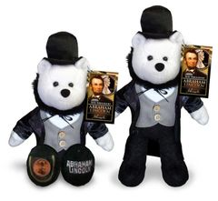 "COIN BEAR - Abe Lincoln PLUSH COLLECTIBLE 9"" BEAR w/ Abe Lincoln US Penny"