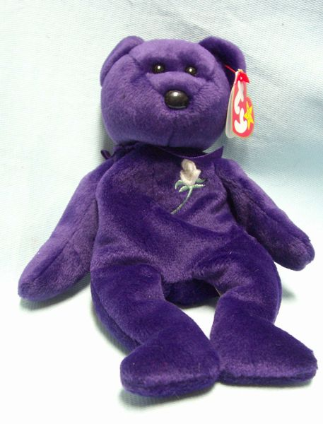 BEANIE BABIES: Ty Beanie Babies Plush Collectible Bean Bear - 1997 PRINCESS
