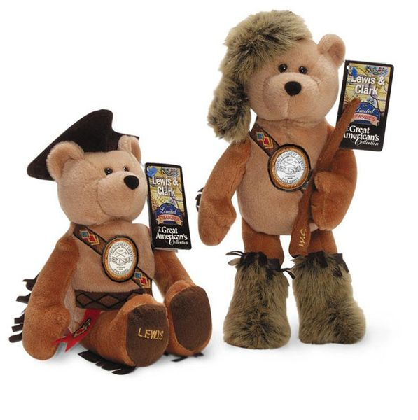 """Lewis & Clark"" Nickel Bears - Westward Journey Nickel Series Plush Collectible Bears"