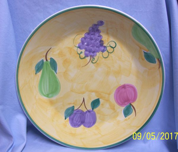 "SERVING BOWL - Large Round Caleca Frutta Italian Colorful 14"" Serving Pasta Bowl"
