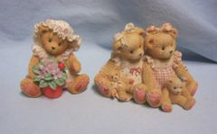 CHERISHED TEDDIES: 1995 Allison & Alexandria, Violet by Enesco