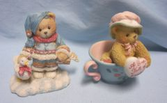 CHERISHED TEDDIES: 1994 Friendship Cherished Teddies Figurines by Enesco - Ingrid, Madeline