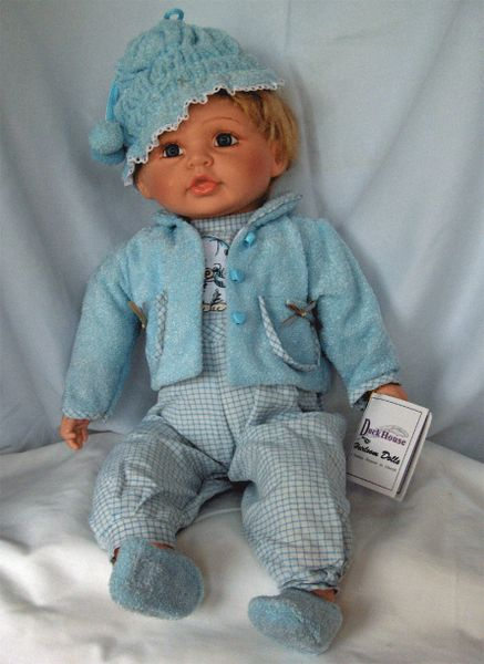 """DUCK HOUSE COLLECTIBLE DOLLS - Limited Edition Retired 22"""" Vinyl Boy Doll - VINCE"""