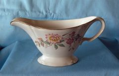 GRAVY BOAT Edwin M Knowles Semi Vitreous Vintage China Gravy Bowl USA