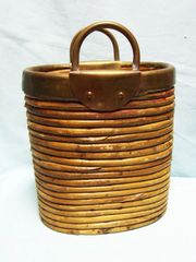 PLANTER & VASES: Unique decorative planter from India Purse shape with Handles