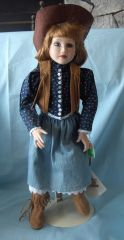 "COLLECTIBLE DOLLS: 1993 Collectible 16"" Porcelain Doll by Hamilton - SAVANNAH"