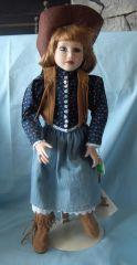 "COLLECTIBLE DOLLS: 1993 Collectible 16"" Porcelain Doll by Hamilton - SAVANNAH"