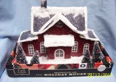 Holiday Decoration: FAO Schwarz Decorative LED Sisal Paper Holiday House