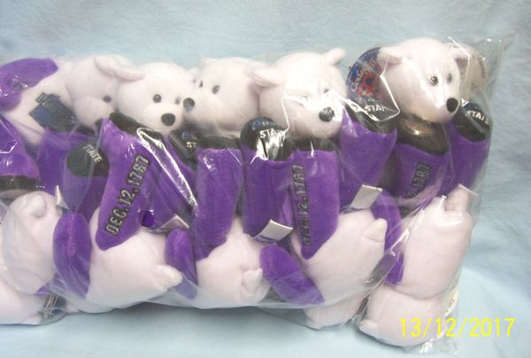 "PLUSH STATE QUARTER BEARS: 10 Discounted Limited Treasures Plush 9"" Collectible Bears in Unopened Bag #2 State Pennsylvania"