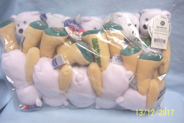 "PLUSH STATE QUARTER BEARS: 10 Discounted Limited Treasures Plush 9"" Collectible Bears in Unopened Bag #3 New Jersey"