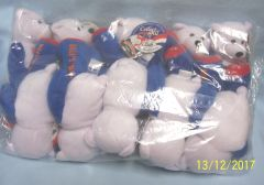 "PLUSH STATE QUARTER BEARS: 10 Discounted Limited Treasures 9"" Collectible Bears in Unopened Bag #5 Connecticut"