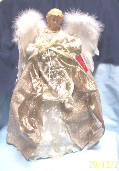 TREE TOPPER: Angel Tree Topper/Tabletop Decor Frosted Forest by Ashland
