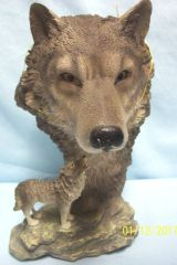 "WILD-LIFE WOLF FIGURINE - Spirit of the Wolf Figurine Collectible Polyresin 8 1/2"" Tall"