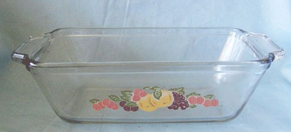 BAKING DISH Vintage ANCHOR Ovenware 1.5 Qt. Clear Loaf Glass Baking Dish