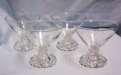 CHAMPAGNE GLASSES/SHERBET DISHES: (4) Anchor Hocking Boopie Changagne Glasses/Sherbet Dishes