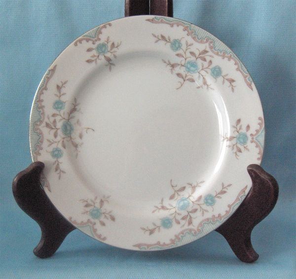 "PLATES: Pair Bread and Butter Plates by Narumi Japan Pattern Phoebe 6 1/2"" Diameter"