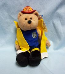 "COLLECTIBLE PLUSH BEAR: The Fire Rescue Plush Collectible 9"" Bear Limited Treasures"