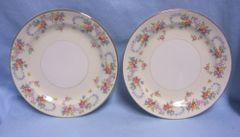 "PLATES: Vintage (2) Eggshell Nautilus Homer Laughlin Dubarry Dessert/Pie Plates 7 1/4"""