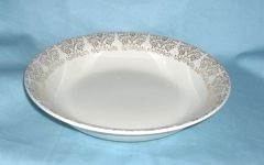 "BOWLS: Vintage Vegetable Bowl, Serving Bowl with 1"" Gold Trim Border 9"" Diameter"