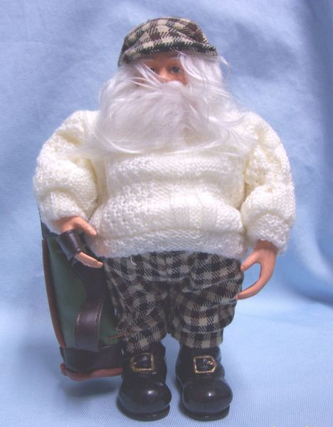 SANTA FIGURINE: Collectible Ornament Santa Home for the Holidays Presents 'Vision of Santa'