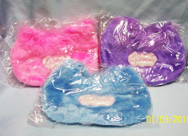 CHILDREN PURSES: Set (10) Fuzzy Children's Fabric Purses with zippers & Liners