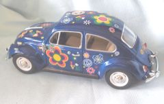 1967 Volkswagen Classical Beetle with Decals Diecast Collectible Model Car 1:24 Scale Kinsmart