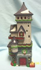 """CHRISTMAS VILLAGE: Cute 1992 Dept. 56 North Pole Series Post Office Building 5"""" Tall"""