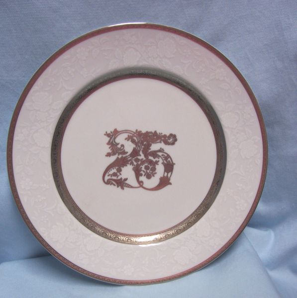 "ANNIVERSARY COLLECTIBLES: 25th Anniversary Round 11"" Decorative Plate by Mikasa"