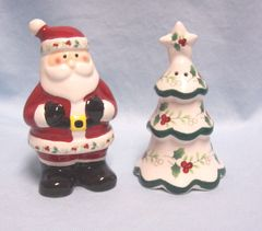 "COLLECTIBLE SHAKERS: Holiday ""Winterberry"" Salt & Pepper Shakers by Pfaltzgraff"